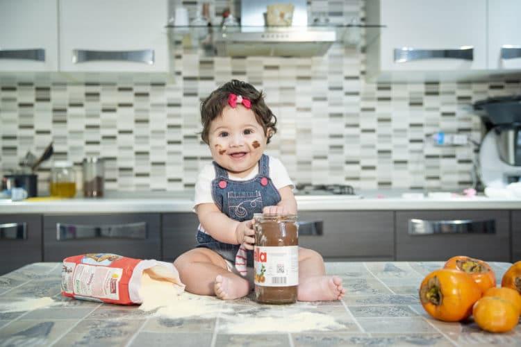 Bambina Nutella Fotografo Reggio Calabria